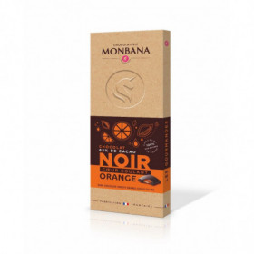 Tablette fourrée noir orange 100g - Monbana