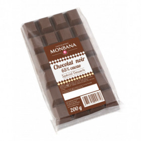 Tablette de chocolat Noir 65% cacao minimum 200g - Monbana