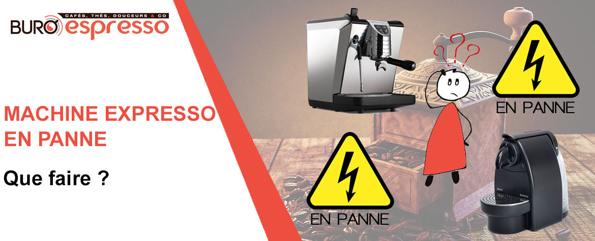Ma machine expresso ne s'allume plus